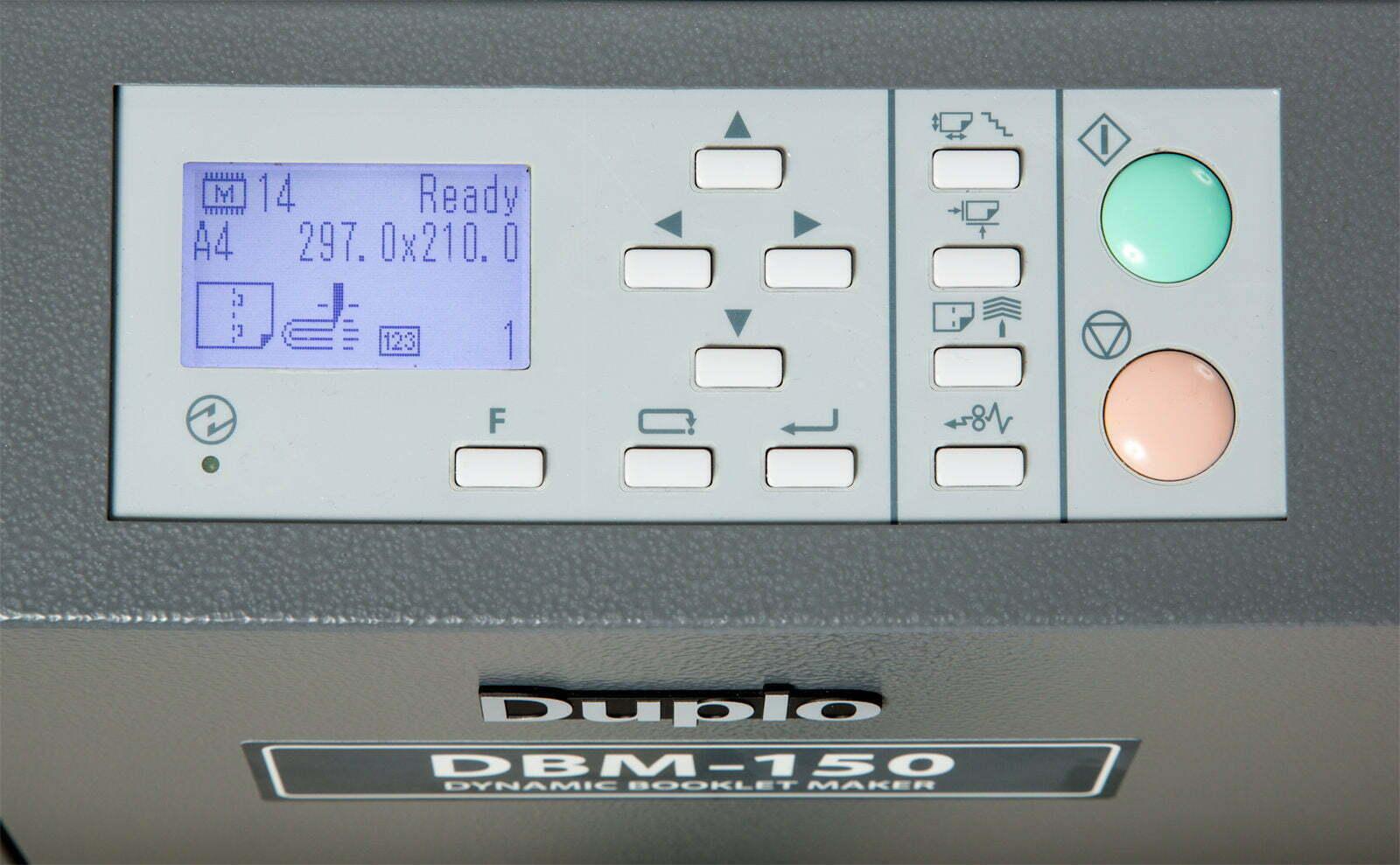Duplo DBM-150 bedieningspaneel