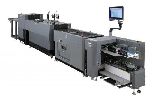 Duplo's revolutionaire DBM-600 & DBM-600T gecombineerd met de DSF-2200 sheet feeder en Slitter / Cutter / Creaser-module